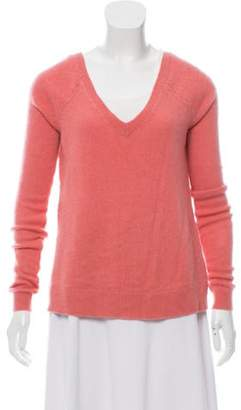 Calypso Cashmere Off-The-Shoulder Sweater Pink Cashmere Off-The-Shoulder Sweater