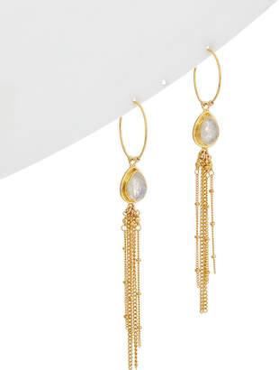 Chan Luu 18K Over Silver Moonstone Earrings