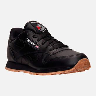 Reebok Kids' Grade School Classic Leather Gum Casual Shoes