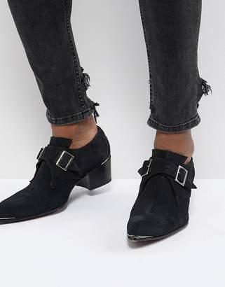 Jeffery West Sylvian Double Monk Suede Shoes