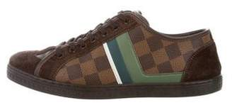 Louis Vuitton Damier Leather & Suede Low-top sneakers