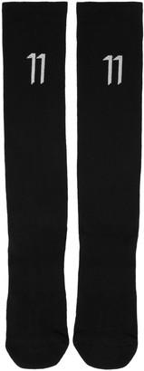 11 by Boris Bidjan Saberi Black Classic Sport Logo Socks $50 thestylecure.com