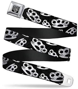BUCKLE-DOWN INC. Unisex-Adults Buckle-Down Seatbelt Belt Brass Knuckles XL