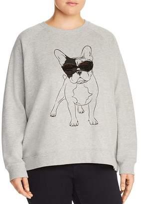 Andrew Marc Plus Dog-Graphic Sweatshirt
