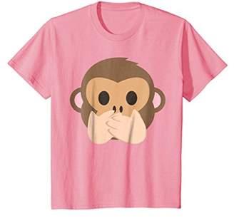 Speak No Evil Monkey Emoji Face T-Shirt