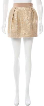 Giambattista Valli Metallic Mini Skirt