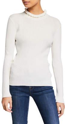 Frame Ruffled Turtleneck Sweater