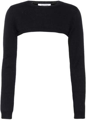 Valentino Cropped cashmere sweater