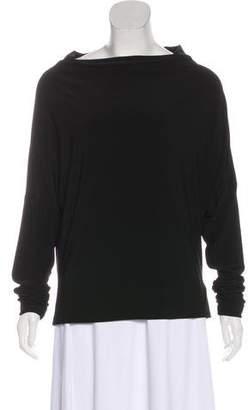 Norma Kamali Long Sleeve Cowl Neck Top