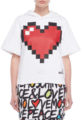 Love Moschino Graphic Short Sleeve Hoodie