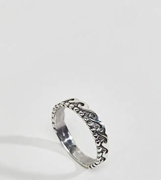 Regal Rose Sterling Silver Wave Ring