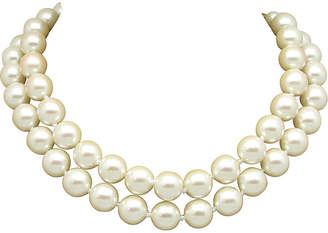 One Kings Lane Vintage Carolee Two-Strand Faux-Pearl Necklace