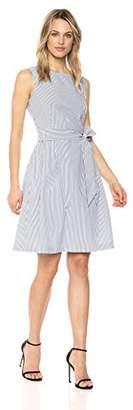 Anne Klein Women's Seersucker Fit and Flare Dress