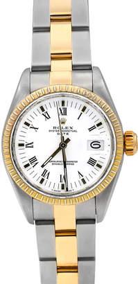 Rolex Pre-Owned Men's 34mm 18k Gold Date Bracelet Watch