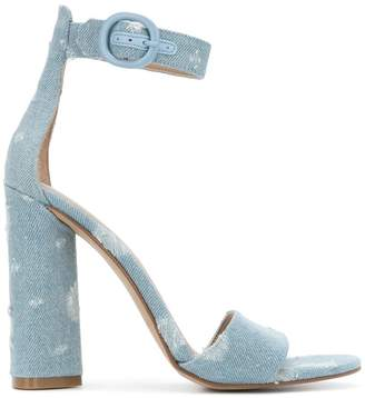 KENDALL + KYLIE Kendall+Kylie distressed denim sandals