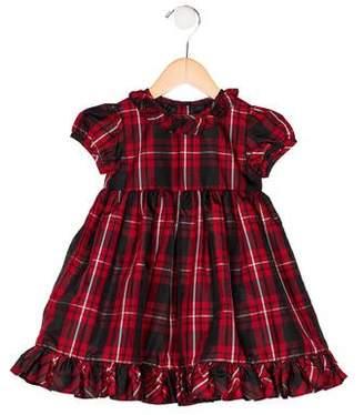 Ralph Lauren Girls' Plaid Ruffle Dress