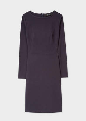 Women's Dark Navy Jersey Shift Dress