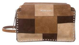 MICHAEL Michael Kors Suede Patchwork Shoulder Bag