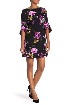 Vince Camuto 3/4 Sleeve Floral Print Dress