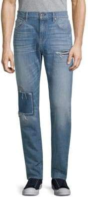 7 For All Mankind Adrien Slim-Fit Distressed Jeans