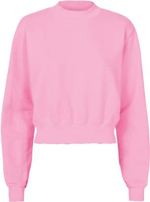 Cotton Citizen Milan Cropped Pink Sweatshirt