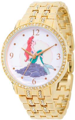 DISNEY PRINCESS Disney Princess Ariel The Little Mermaid Womens Gold Tone Bracelet Watch-Wds000232