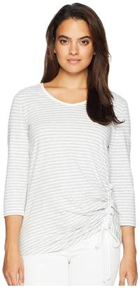 Jones New York 3/4 Sleeve V-Neck with Rouch Side Front Women's Clothing