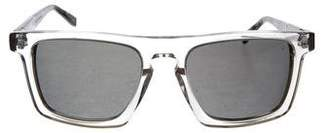 John Varvatos Clear Square Frame Sunglasses