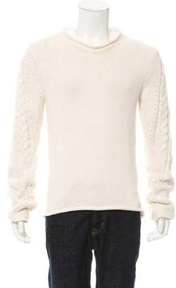 Loewe Cable Knit V-Neck Sweater