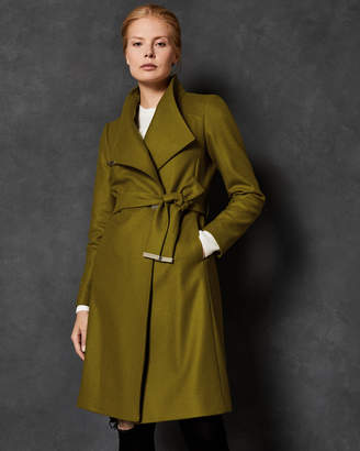 Ted Baker SANDRA Midi wool wrap coat