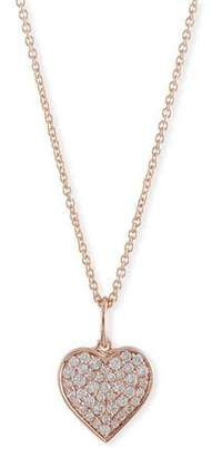 Sydney Evan Small Anniversary 14K Rose Gold Heart Pendant Necklace with Diamonds