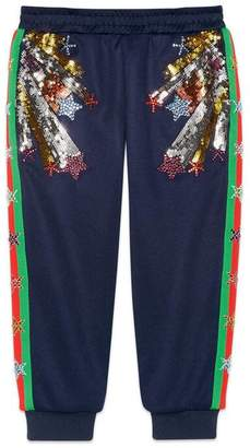 Gucci Children's track bottoms with shooting stars