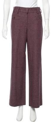 Chanel Plaid Mid-Rise Pants