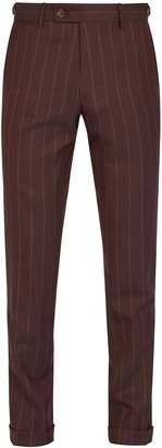 Etro Pinstripe wool trousers