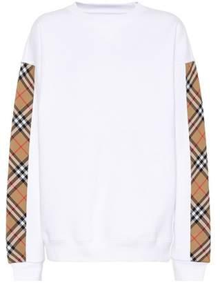 Burberry Oversized cotton-blend sweatshirt
