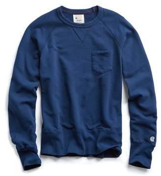Todd Snyder + Champion Pocket Sweatshirt in Marine Blue