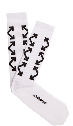 OFF-WHITE Arrows socks $46 thestylecure.com
