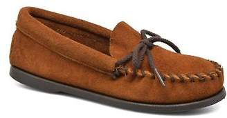 Minnetonka Kids's Unbeaded Classic Moc Loafers In Brown - Size Uk 13 Kids / Eu