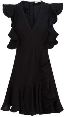 Sandro Ruffle Mini Dress
