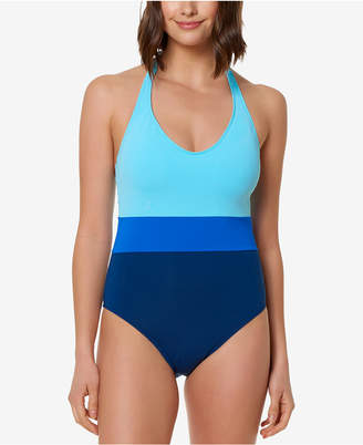Bleu by Rod Beattie Colorblocked One-Piece Swimsuit Women's Swimsuit