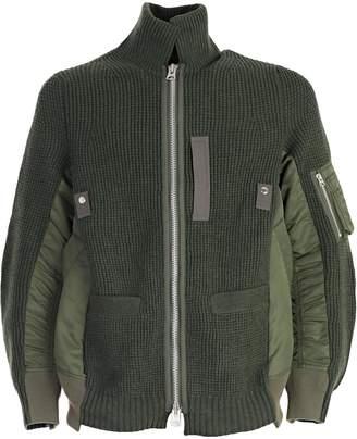 Sacai Oversized Ribbed Knit Jacket