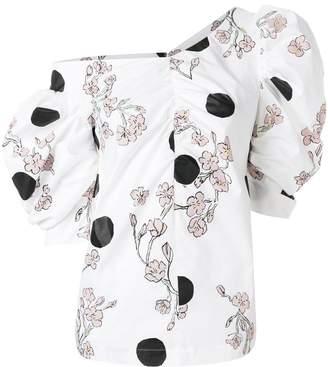 Isa Arfen floral asymmetric blouse