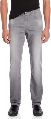 7 For All Mankind Grey Weightless Denim Slimmy Jeans