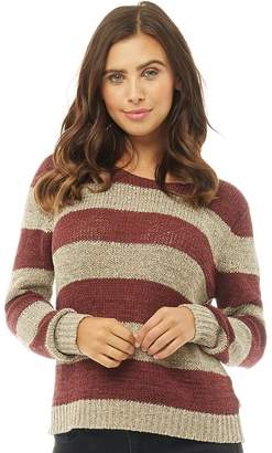 Only Womens Gabbi Long Sleeve Top Chocolate Truffle/Pumice Stone