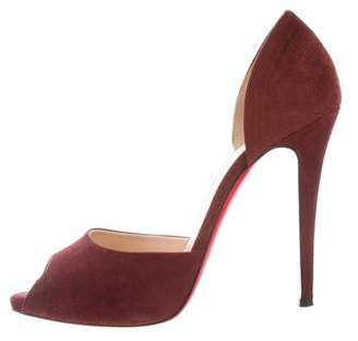 Christian Louboutin Madame Claude 120 Suede Pumps