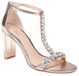 Badgley Mischka Morley Jeweled Block Heel Sandal