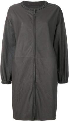 Fabiana Filippi collarless leather coat