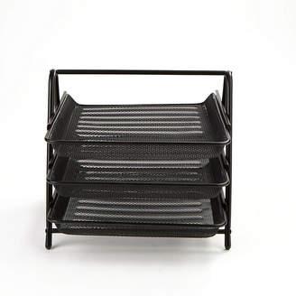 MINDREADER Mind Reader 3 Tier Steel Mesh Paper Tray Desk Organizer