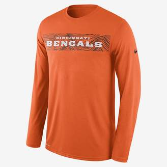 Nike Dri-FIT Legend Seismic (NFL Bengals) Men's Long Sleeve T-Shirt