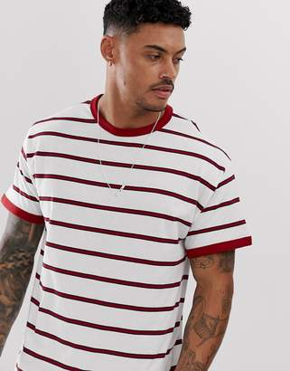 New Look ringer t-shirt in red stripe